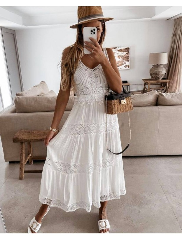 Anna blonde dress