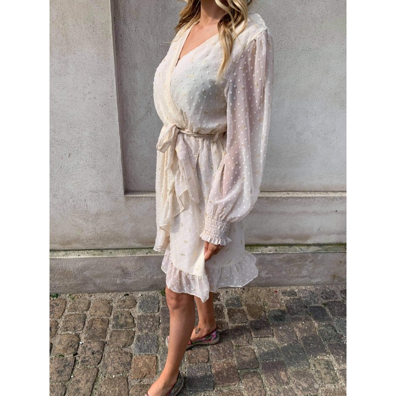 Jaqueline dress nude - Deluxe Clothing