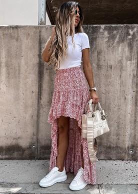 Soffy skirt red