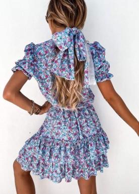 Alba flower dress Blue