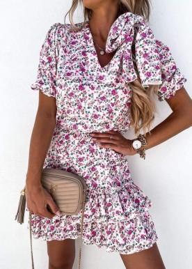 Alba flower dress Rose