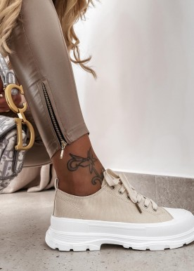 iris sneakers beige