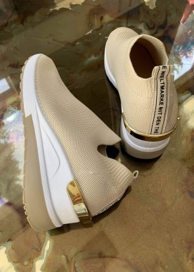 Line sneakers nude