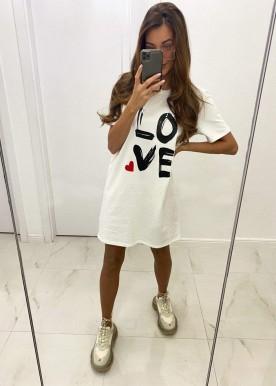 Love tee White