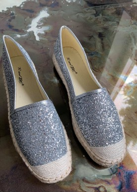 Benita glitter espadrilles silver