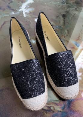 Benita glitter espadrilles Black