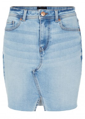 pclina mw skirt light blue denim