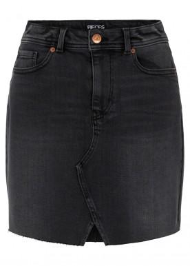 pclina mw skirt black denim
