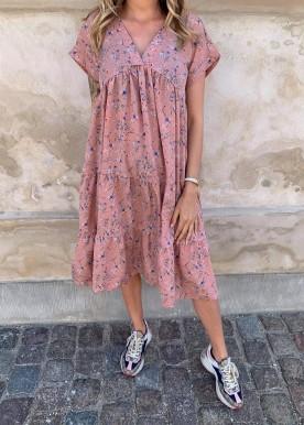 Savanna kjole rosa
