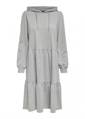 JDYMARY L/S SWEAT DRESS JRS light grey melange