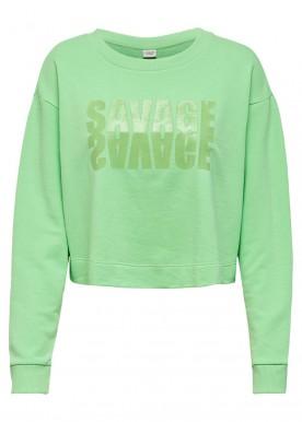JDYASA LIFE L/S PRINT SWEAT JRS green savage