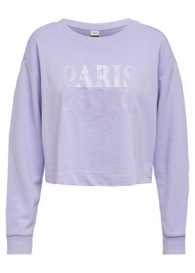 JDYASA LIFE L/S PRINT SWEAT JRS Lavender Paris