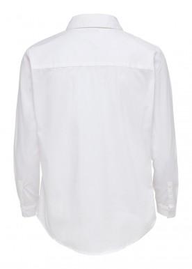 JDYMIO L/S SHIRT WVN white