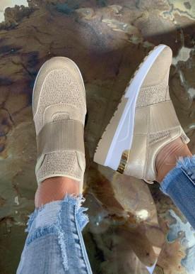 frida sneakers golden