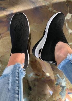 line sneakers black