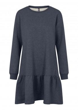 pcchilli ls flounce dress ombre blue