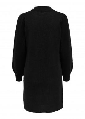 JDYRUE L/S HIGH NECK DRESS KNT black