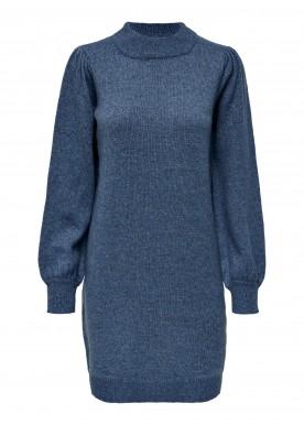 JDYRUE L/S HIGH NECK DRESS KNT coastal fjort