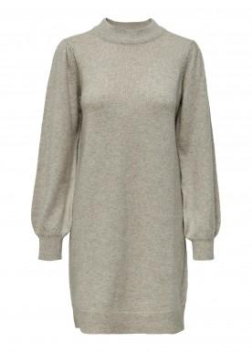 JDYRUE L/S HIGH NECK DRESS KNT CHATEAU GRAY MELANGE