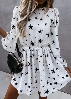 Jolie star dress hvid