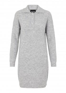 PCPETRA LS KNIT DRESS D2D light grey melange