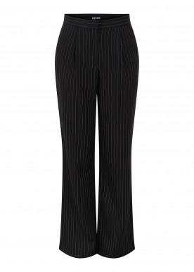 PCKLAUDIA HW PANTS BC black stripes