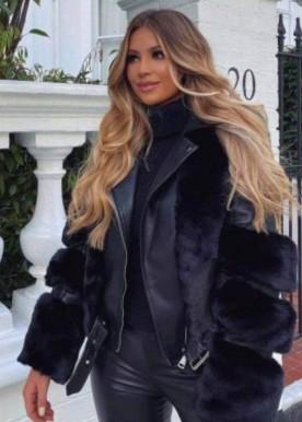copperose new fur jacket black 2021