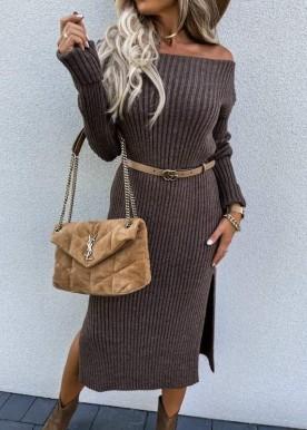 Lissa knit dress Brown