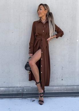 Olie dress Brown