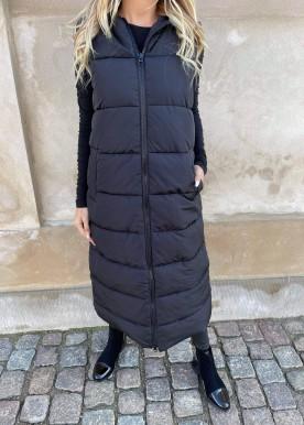 PCELINORA LONG PUFFER VEST black
