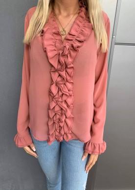 Julie skjorte Rosa/rød