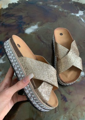 simo slippers gold