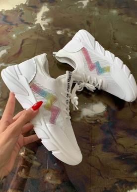 Kloe multi sneakers hvid