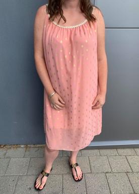 jasmina dot dress rosa