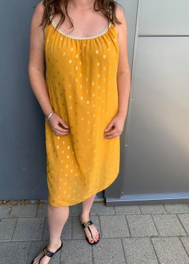 jasmina dot dress yellow