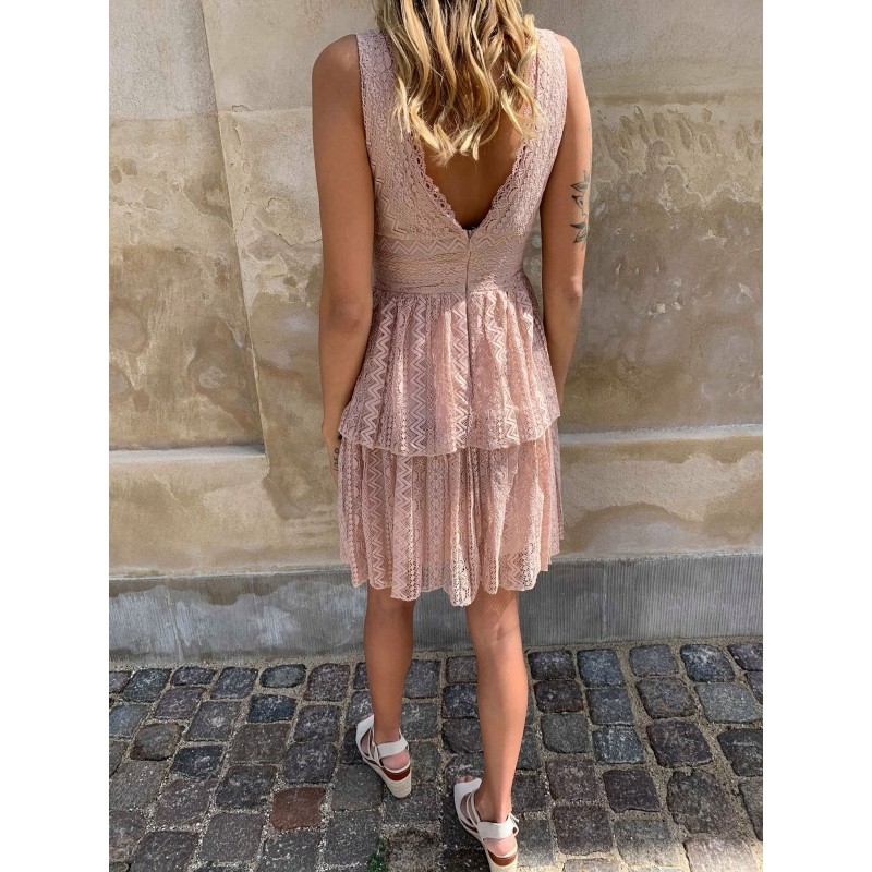 Nadja blonde dress nude - Deluxe Clothing