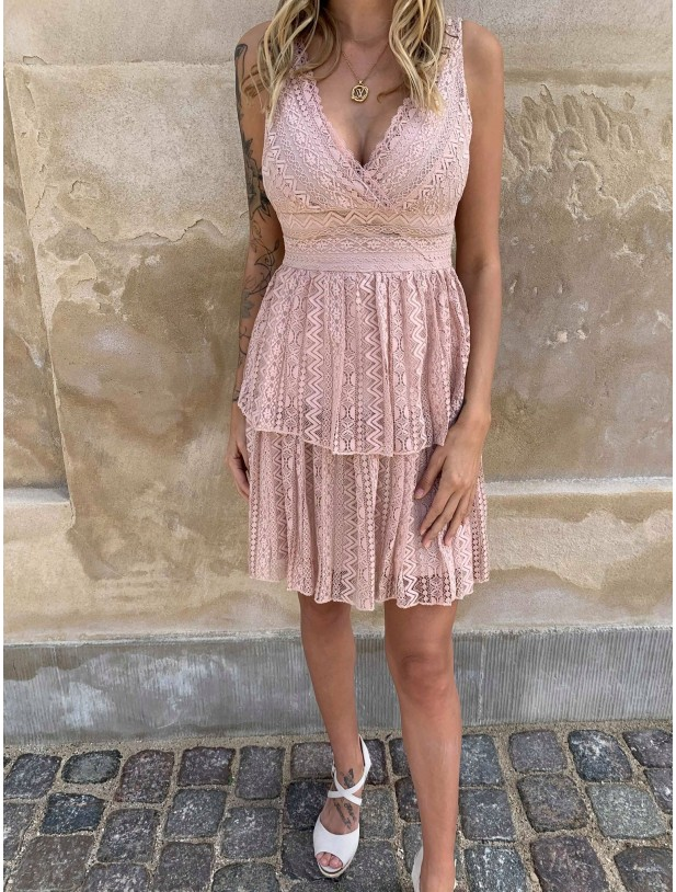 monique nude dress - Deluxe Clothing