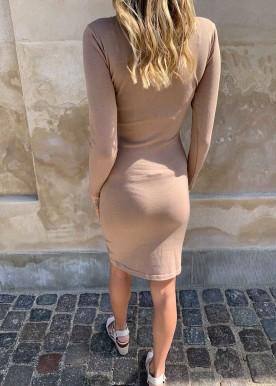 Tiffany kjole beige