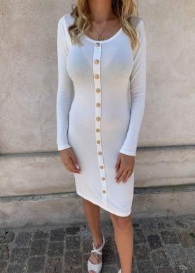tiffany kjole hvid