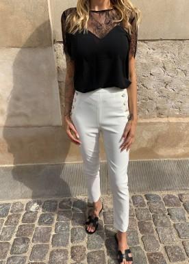 mandy pants white
