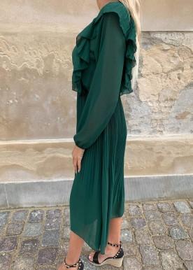 Carmen kjole grøn