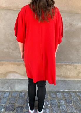 vogue dress rød