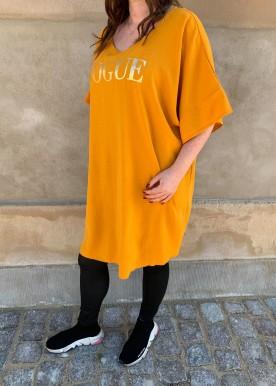 vogue dress yellow