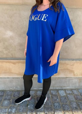 vogue dress royal blue