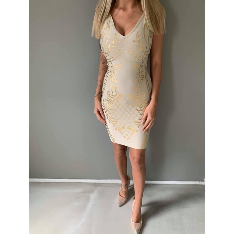 Sava snake dress - Deluxe Clothing