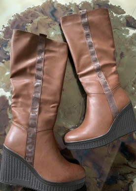 emily boot long brown