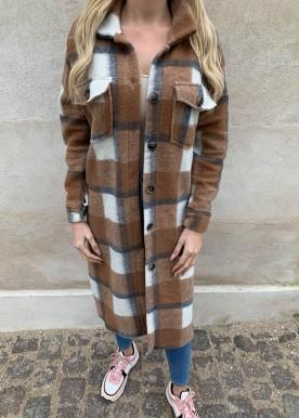 dini long skjorte/jakke brown