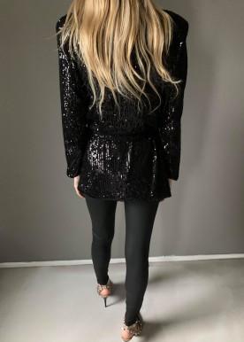 Janna palliet blazer sort