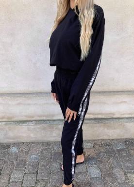 fashion sweat sæt black