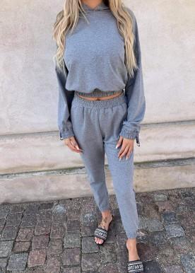 fashion sweat sæt grey